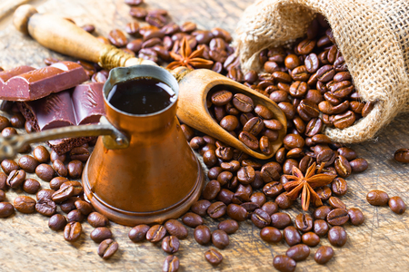 white fabric texture: black coffee beans