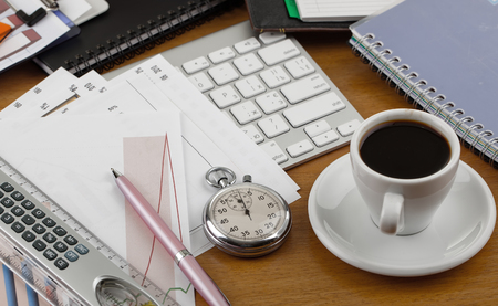 Business Objects in the office on the table 스톡 콘텐츠