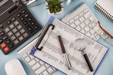 Office accessories for business management. Stock Photo