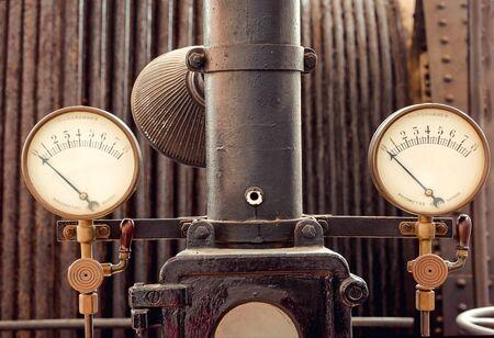Retro industrial  Pressure measurement.