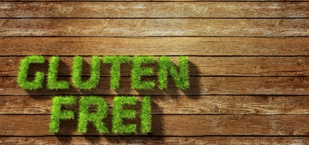 gluten frei made of grass on wood background Stock Photo