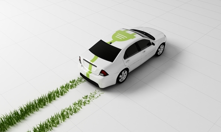 3d rendering of a Electric car concept
