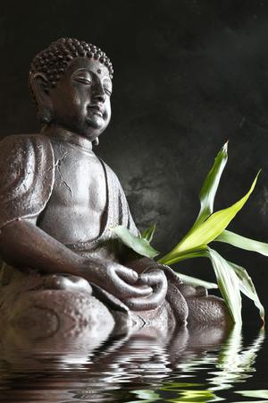 Bouddha dans la méditation avec du bambou et de l & # 39 ; Banque d'images - 92111579