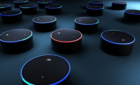 3d rendering of voice recognition system 免版税图像