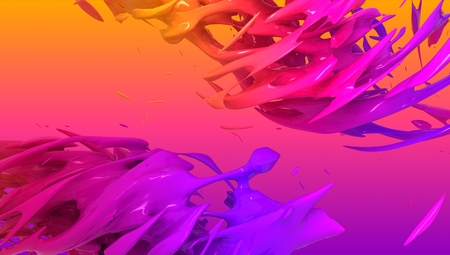 Colorful liquid color background design. 3d rendering