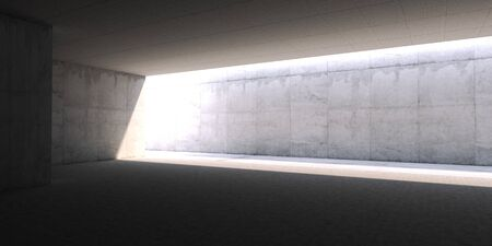 a concrete blank space interior wall. 3d render