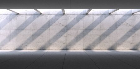 Concrete blank space interior wall. 3d render 写真素材