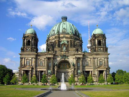 Berlin Cathedral (Berliner Dom), Berlin, Germany 版權商用圖片