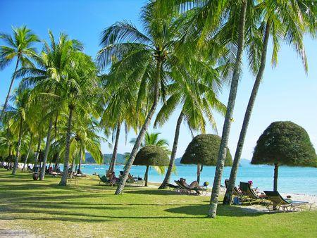 Cenang beach, Langkawi, Malaysia 版權商用圖片