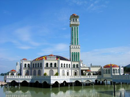 Floating Mosque, Penang island, Malaysia photo
