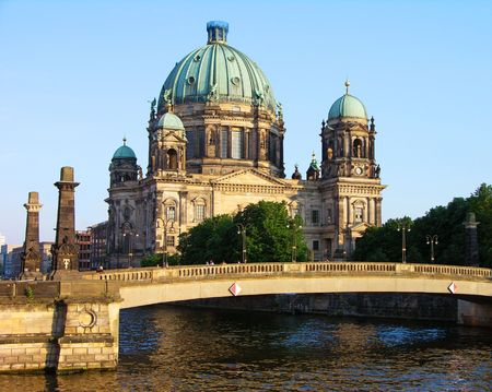 Berlin Cathedral (Berliner Dom) and the bridge across the Spree River, Germany
