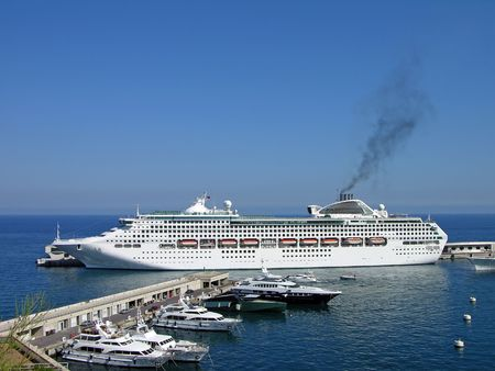 Cruise liner in Monte-Carlo photo