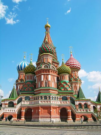 intercession: St.Basils Cathedral (Pokrovsky Cathedral), Red Square, Moscow Stock Photo