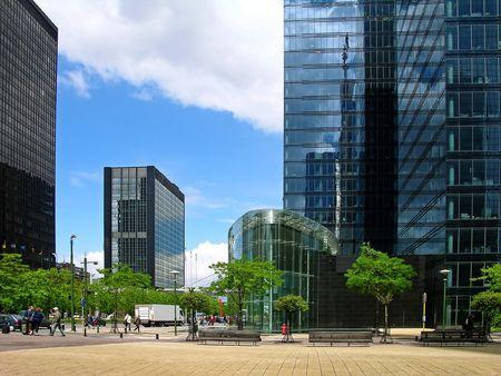 Modern tower buildings in Brussels, Belgium photo