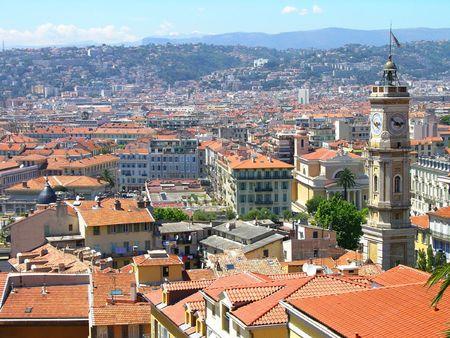 Nice city bird eye view, Cote dAzur, France photo