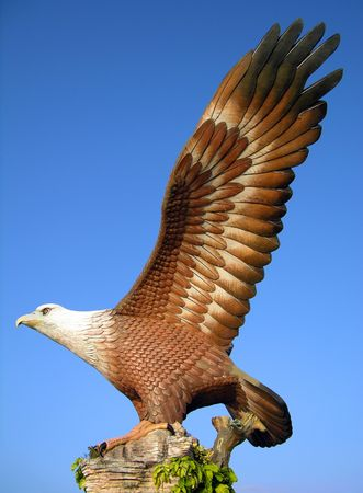langkawi island: Big eagle statue, the symbol of Langkawi island, Malaysia