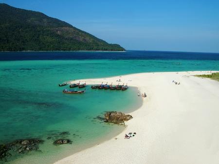 Beautiful beach on Lipe island, Andaman sea, Thailand photo