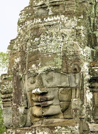 Face of Bayon Temple, Angkor, Cambodia photo
