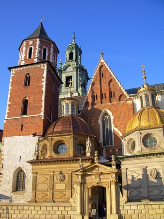 Wawel Cathedral, the part of Wawel Castle complex in Krakow, Poland photo