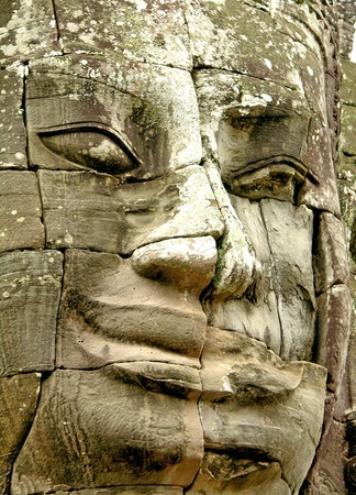 Face of Bayon temple, Angkor, Cambodia photo