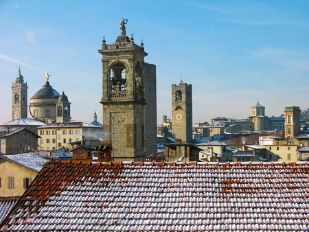 Upper town of Bergamo, Italy photo
