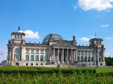 Reichstag building in Berlin (German parliament)