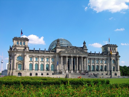 Reichstag building in Berlin (German parliament) Stock Photo - 9378807