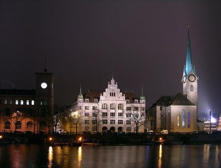 The Fraumunster church, Zurich, Switzerland photo