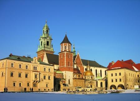 wawel: Wawel Castle complex in Krakow, Poland Stock Photo