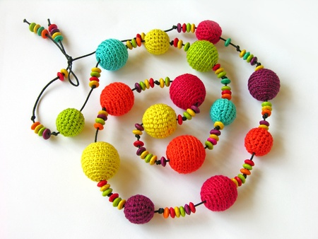 crochet: Colorful handmade necklace