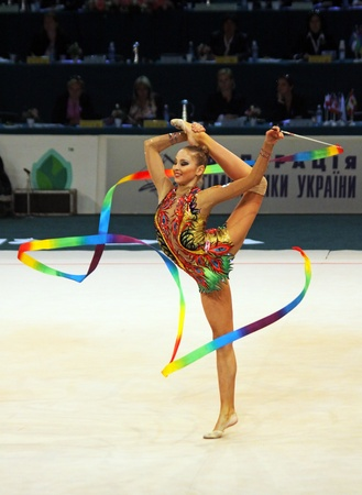 Kyiv, Ukraine - May 8, 2011 - Daria Kondakova (Russia) performs at Deriugina Cup (Rhythmic Gymnastics World Cup)