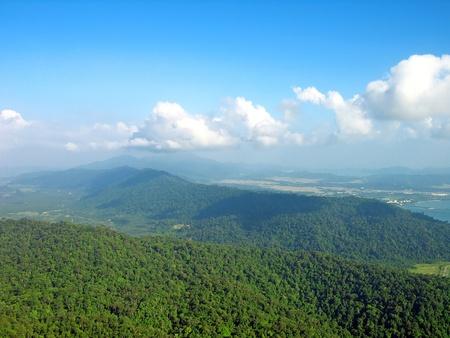 View of the island from Mat Cincang mountain, Langkawi, Malaysia photo