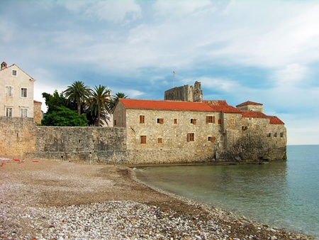 Walls of Budva old town, Montenegro photo