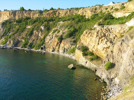 Beach at Fiolent cape, Sevastopol, Crimea, Ukraine photo