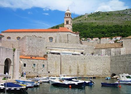 croatia dubrovnik: Old port of Dubrovnik, Croatia