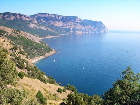 Beaches of Balaklava town, Crimea, Ukraine photo