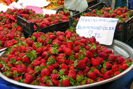 Strawberries at the market photo