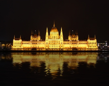 Famous building of Parliament at night, Budapest Stock Photo - 12654621