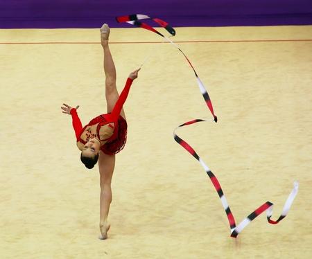 bulgaria girl: Kyiv, Ukraine - March 18, 2012: Silviya Miteva (Bulgaria) performs at Deriugina Cup (Rhythmic Gymnastics World Cup) Editorial