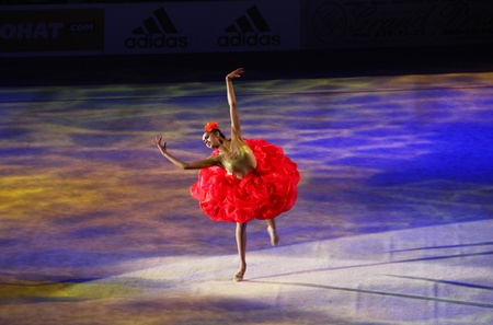 Kyiv, Ukraine - March 18, 2012: Margarita Mamun (Russia) performs during Gala Concert at Rhythmic Gymnastics Deriugina Cup Stock Photo - 12734194