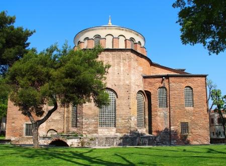 aya: Hagia Irene church (Aya Irini) in the park of Topkapi Palace in Istanbul, Turkey Stock Photo