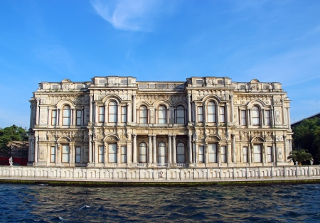 Beylerbeyi Palace on the bank of Bosphorus strait in Istanbul, Turkey Editorial