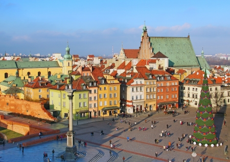 Castle square (plac Zamkowy) in Warsaw old town, Poland