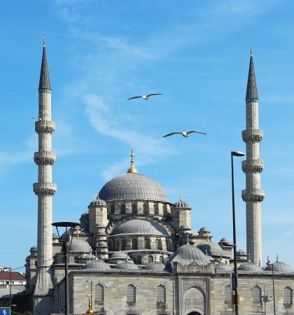 mezquita: Mezquita Nueva (Yeni Cami) en Eminonu barrio de Estambul, Turqu�a Foto de archivo