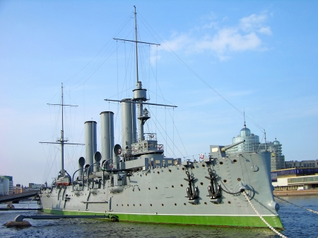 Aurora cruiser museum, Saint-Petersburg, Russia photo