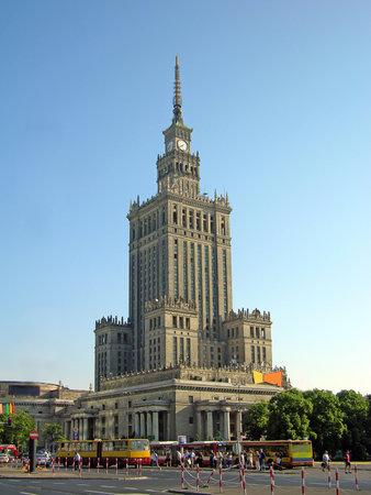 Palast der Kultur und Wissenschaft in Warschau, Polen Editorial