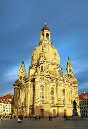 Famous Frauenkirche (Church of Our Lady) in Dresden, Germany  photo