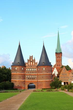 Holsten Gate (Holstentor or Holstein Tor), Lubeck old town, Schleswig-Holstein, Germany