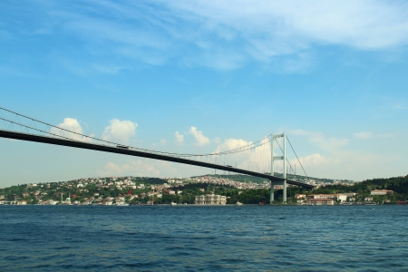 bosporus: Bosphorus bridge in Istanbul, Turkey Stock Photo