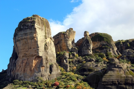 Meteora Rocks, view from Kalambaka, Greece Stock Photo - 16818596
